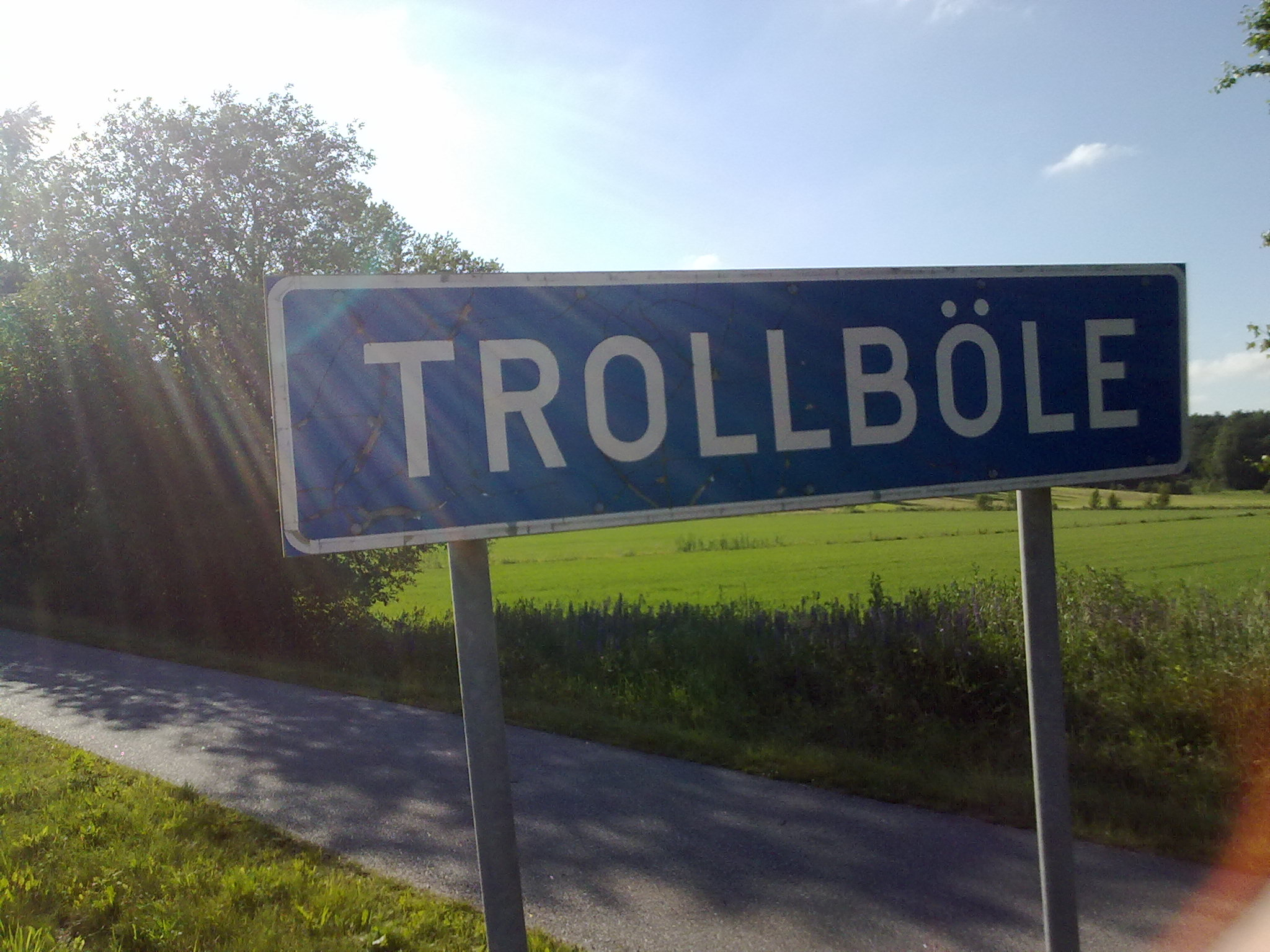 Trollböle-sign